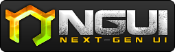 The NGUI logo, an upright hexagon with the lower left side missing, and two horns sticking out the top.
